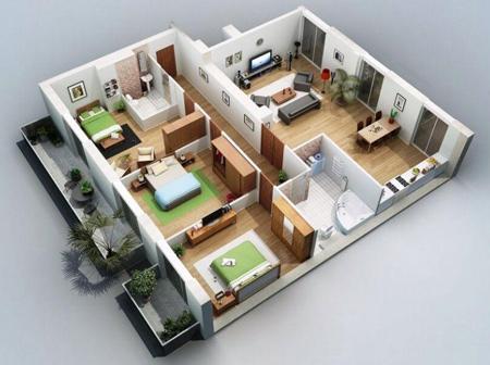 نقشه ساختمان سه بعدی