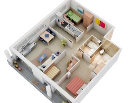 1jc45mpe نقشه ساختمان سه بعدی