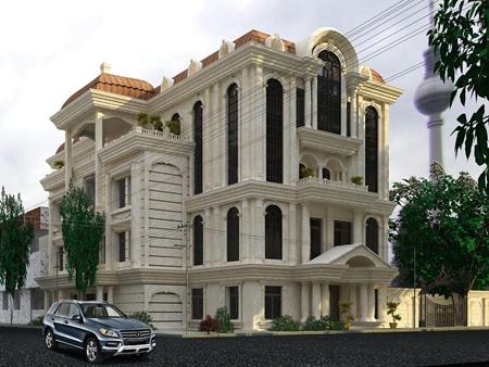 6ptt28uv عکس طراحی نمای رومی ساختمان