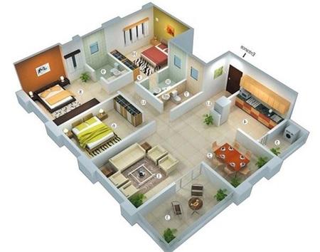 8a3hauc0 نقشه ساختمان سه بعدی