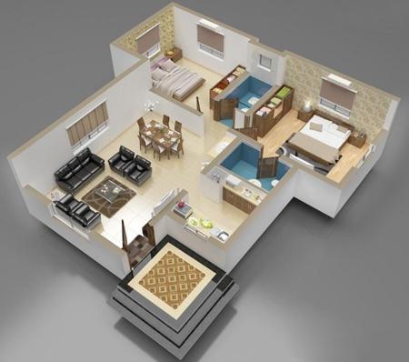 afcdpyon نقشه ساختمان سه بعدی