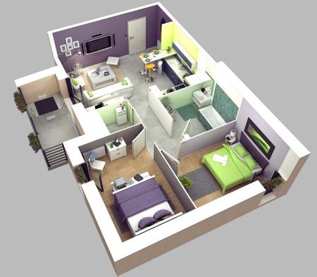 ka3fdd3p نقشه ساختمان سه بعدی
