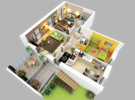 kz7cm0qk نقشه ساختمان سه بعدی