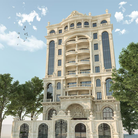rzqtqr9y عکس طراحی نمای رومی ساختمان