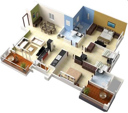 uiuvm4t8 نقشه ساختمان سه بعدی