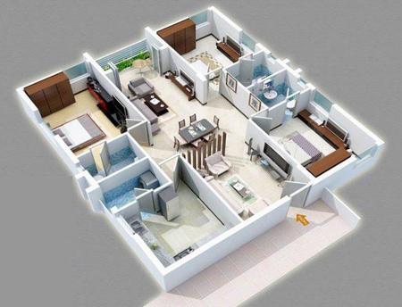 znqysw2m نقشه ساختمان سه بعدی